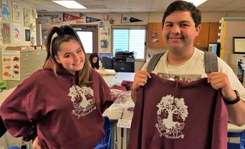 Katie Caffi and Nicholas Barajas with New Sweatshirts
