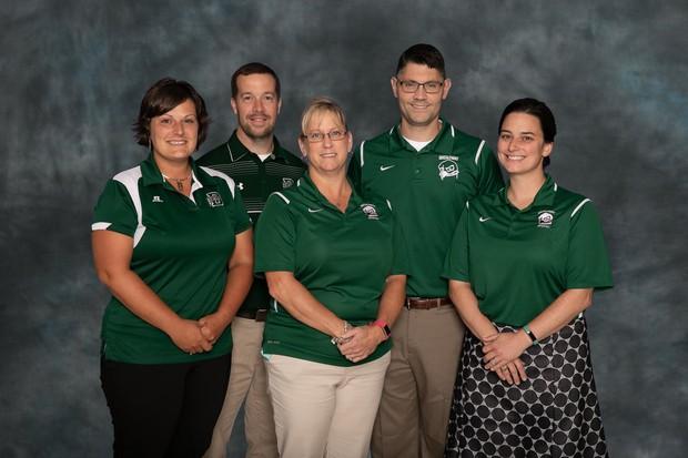 Jen Knick - Assistant Principal, Ryan Ritter - Athletic Director, Donna Abernathy - Principal, Dan Sanders - Assistant Principal, Liza Coffman Assistant Principal