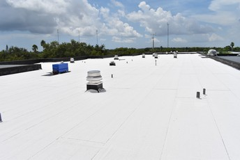 completed roof at Miramar Elementary school