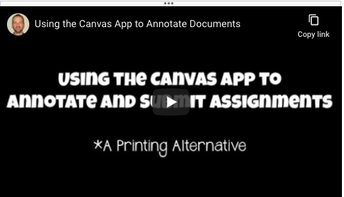 Using the Canvas App to annotate documents