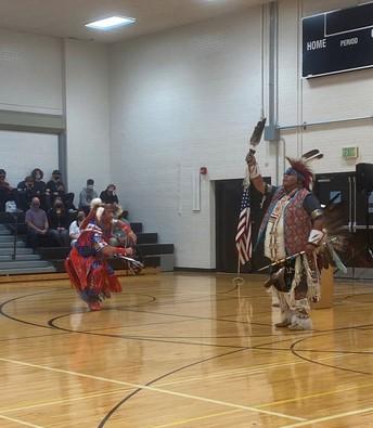 Indigenous dancers in costume