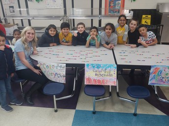 Ms. Paulk and her students