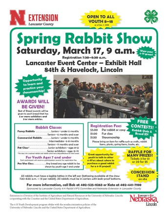 Spring 4-H Rabbit Show