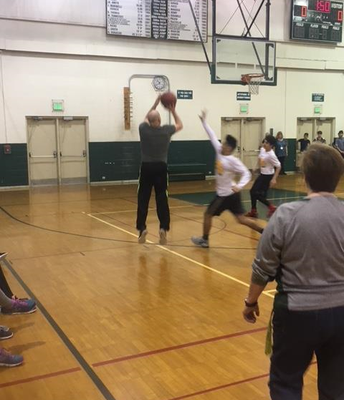 Coach Borja with the jumper