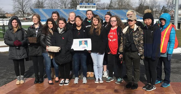 Quakertown HS students after the walkout