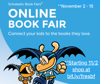 Picture of FRES online book fair flyer.