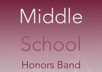 6th Grade Honor Band Coming Soon!