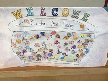 Mrs. Enriquez's Kinder Class Welcome Poster
