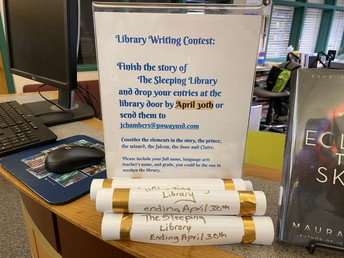 Wanted: All student  writers for a short writing contest due April 30th.