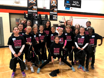 Kindergarten - 5th Grade Students Chance to Perform with the LHS Poms