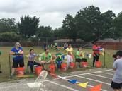 First grade relay fun!