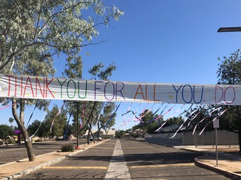 Thank You Banner at Burk Elementary