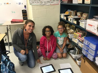 Loving the IPADs and learning with Mrs. Little