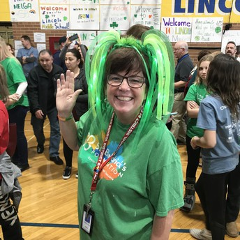Thanks to Ms. Pancini for your St. Baldrick's enthusiasm!