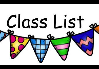 CLASS LISTS COMING SOON!