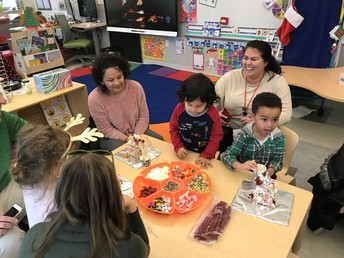 Pre-K Makes Gingerbread Houses!