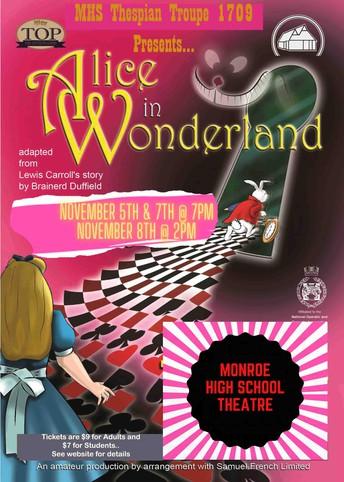 Monroe High School Presents Alice in Wonderland This Weekend