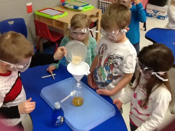 Students learn about chemical reactions.