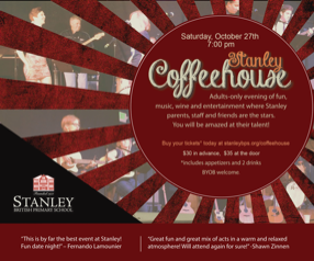Stanley Coffeehouse Tickets on Sale Now!