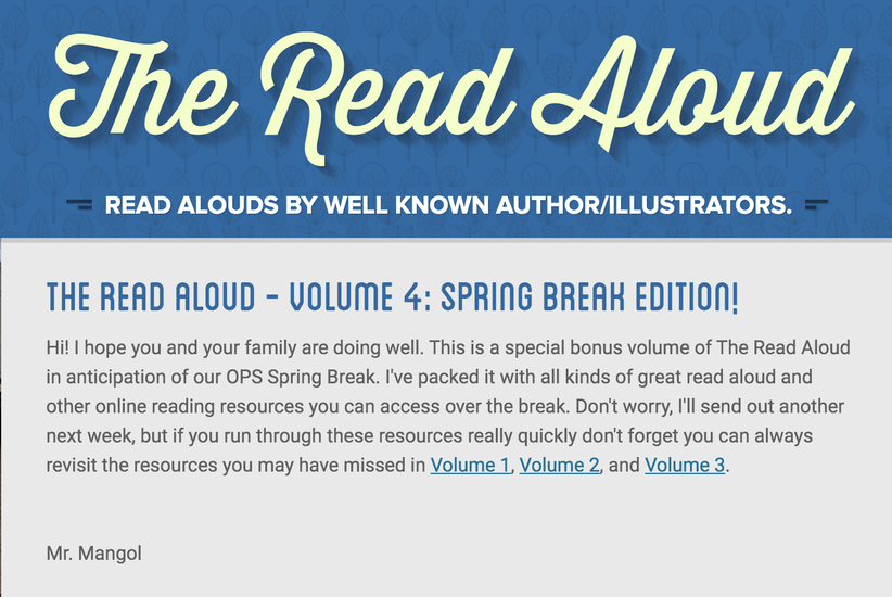 The Read Aloud Volume 4