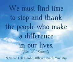 NATIONAL THANK A POLICE OFFICER DAY
