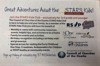 Info for STARS Kids Club