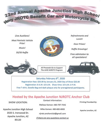22ND ANNUAL AJHS NJROTC BENEFIT CAR AND MOTORCYCLE SHOW