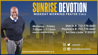 SUNRISE DEVOTION PRAYER CALL