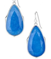Sentiment Stone Drop Earrings - Deep Sea Quartz