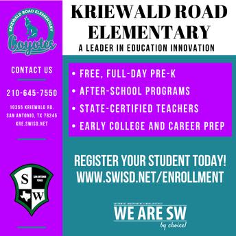 2021-2022 Enrollment/ Registration