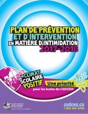 Plan de prévention et d'intervention en matière d'intimidation 2017-2018