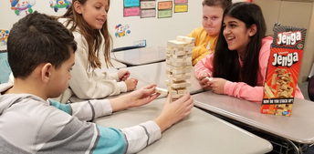 Learning vocabulary with 'Jenga' in ELA class