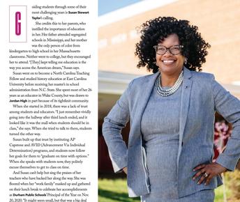 C.E. Jordan High School principal recognized as community leader