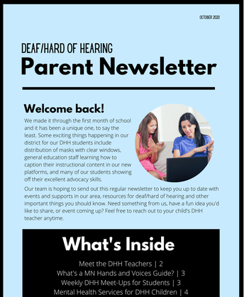 DHH Parent Newsletter