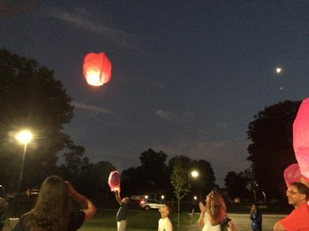 Prayer Lanterns launched at Youth Nite bonfire