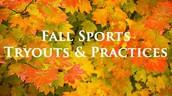 Junior High Fall season Practices Start Monday 8/7/17