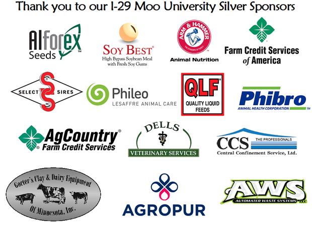 2017-2018 I-29 Moo University Silver Sponsors