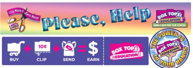 Clemens Crossing receives cash for your Box Tops! Remember to cut them out and send them in with your child. Each grade level has a collection bin -- the more Box Tops your grade brings in, the more cash your child's class receives! Box Tops are collected yearround. The next shipment will go out in late February, so please send in what you have by Feb.22, and then keep sending them in for the remainder of the year for the next shipment.