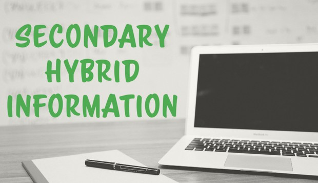 Secondary Hybrid Information Graphic