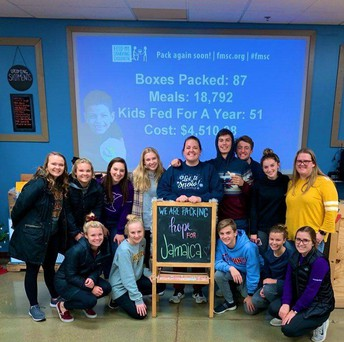 PROUD students visit Feed My Starving Children