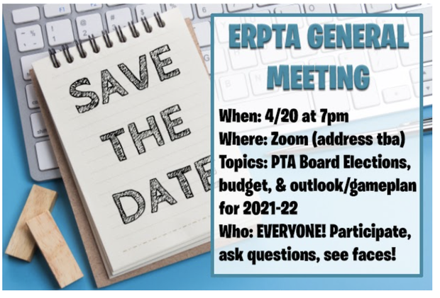 save the date- ERPTA general meeting