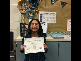 Sophia Garza -- 6th Grade