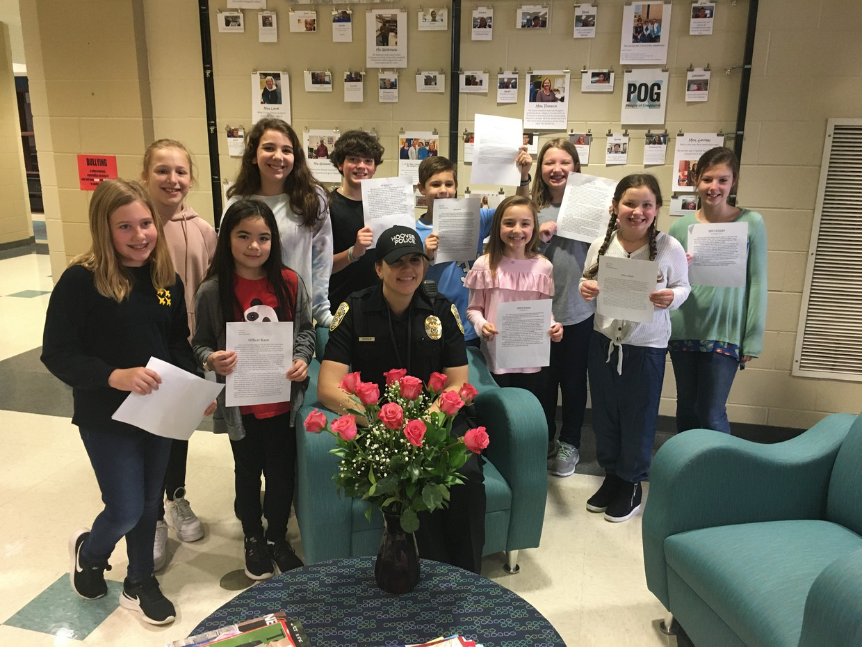 Officer Katie and 5th Graders