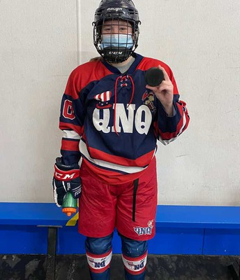 Maggie Lynch scores 100 pts. in QNQ Hockey
