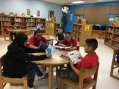 Mr. Sweet's students enjoy some quiet reading time.