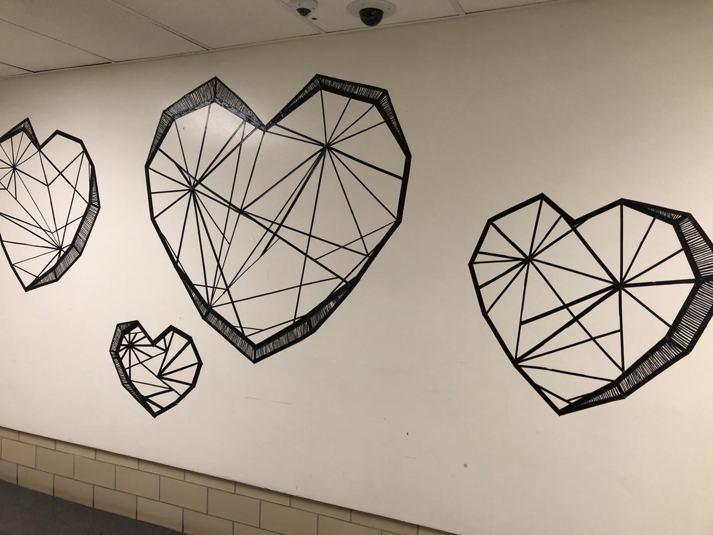 Heart Shaped Mural