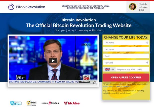 Official Bitcoin Revolution website