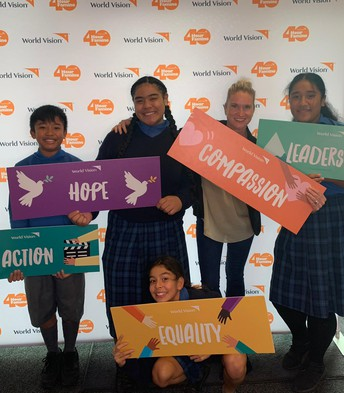 Student leaders at the World Vision Youth Conference with Mrs Walker