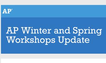 AP Online workshops Available