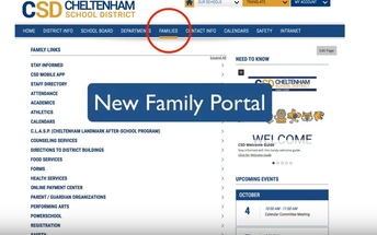 New Family Portal on Cheltenham.org